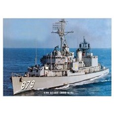 USS LEARY Wall Art Poster