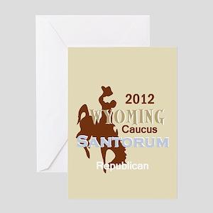 Santorum WYOMING Greeting Card