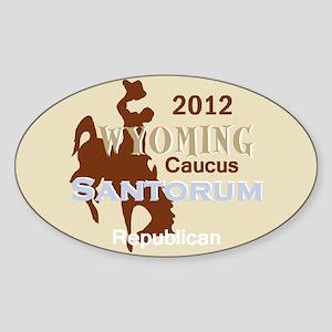 Santorum WYOMING Sticker (Oval)