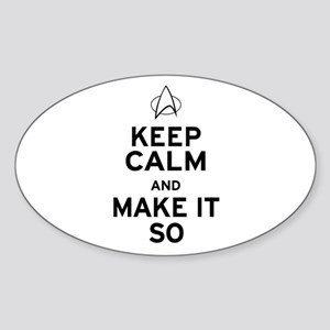 Keep Calm and Make It So Sticker (Oval)