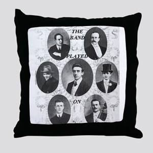 The Wallace Hartley Band Throw Pillow