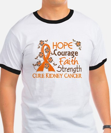 Hope Courage Faith 3 Kidney Cancer T