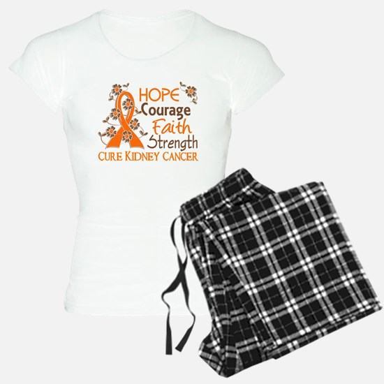 Hope Courage Faith 3 Kidney Cancer Pajamas