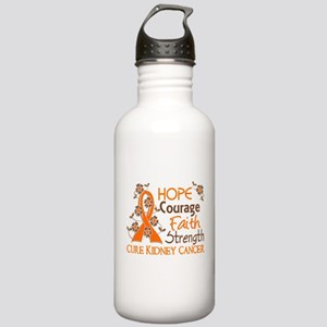 Hope Courage Faith 3 Kidney Cancer Stainless Water