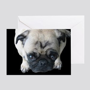 Pretty Please! Pug Greeting Card