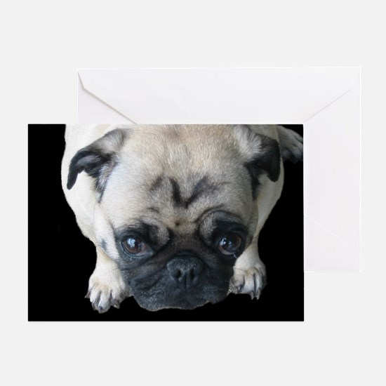 Pretty Please! Pug Greeting Card