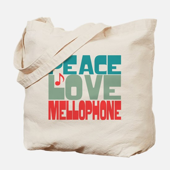 Peace Love Mellophone Tote Bag