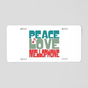 Peace Love Mellophone Aluminum License Plate