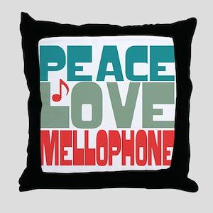 Peace Love Mellophone Throw Pillow
