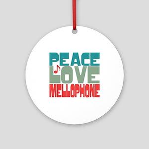 Peace Love Mellophone Ornament (Round)