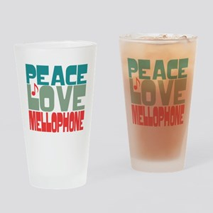 Peace Love Mellophone Drinking Glass