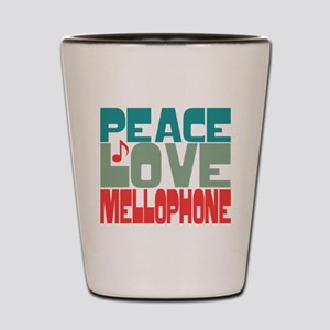 Peace Love Mellophone Shot Glass