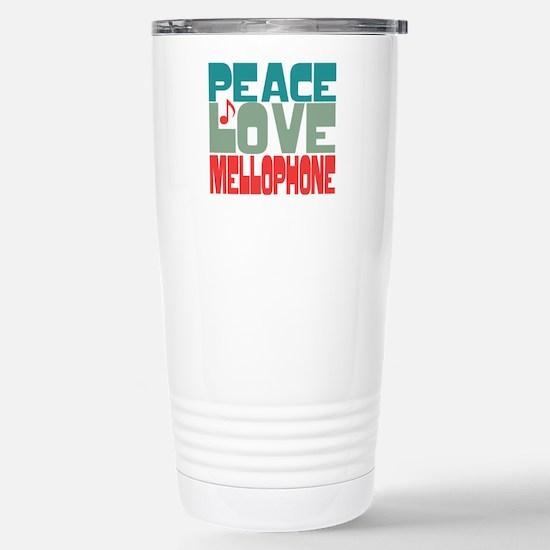 Peace Love Mellophone Stainless Steel Travel Mug