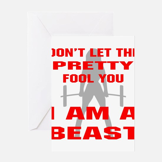 Female I Am A Beast Greeting Cards