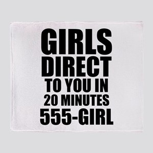 Girls Direct to You Throw Blanket
