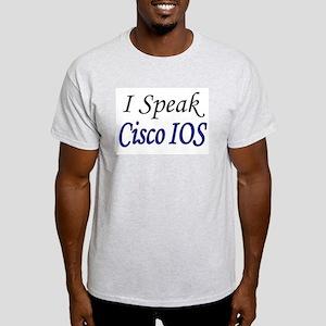 """""""I Speak Cisco IOS"""" Ash Grey T-Shirt"""