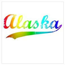 Alaska Rainbow Vintage Wall Art Poster