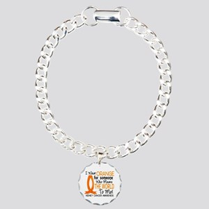 Means World To Me 1 Kidney Cancer Charm Bracelet,