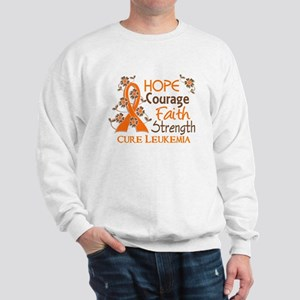 Hope Courage Faith 3 Leukemia Sweatshirt