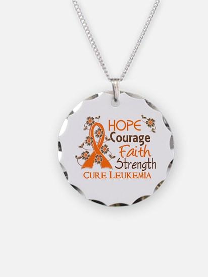 Hope Courage Faith 3 Leukemia Necklace