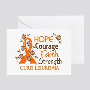 Hope Courage Faith 3 Leukemia Greeting Card