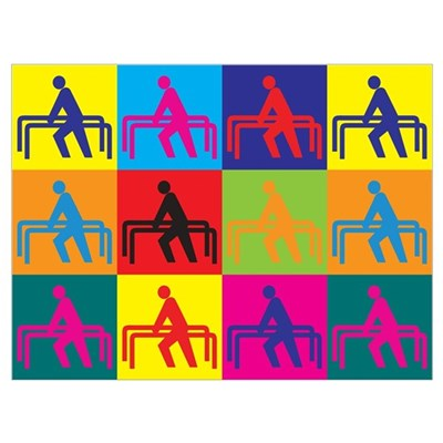 Physical Therapy Pop Art Wall Art Poster