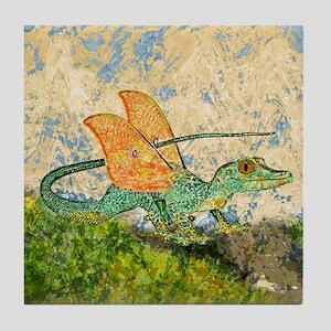 Orange Eyed Dragon Art Tile