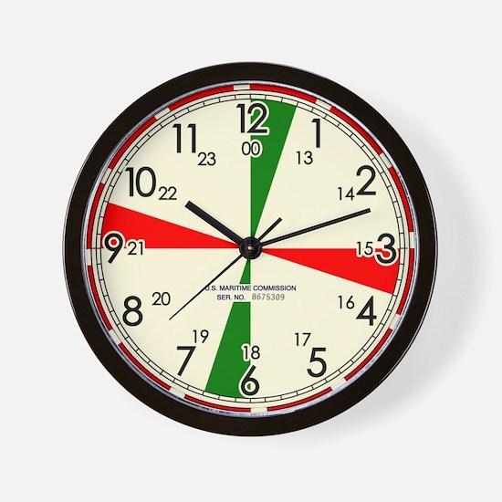 Replica Ships Radio Room Wall Clock / Cream