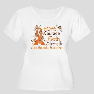 Hope Courage Faith 3 MS Women's Plus Size Scoop Ne