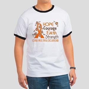 Hope Courage Faith 3 MS Ringer T