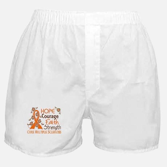 Hope Courage Faith 3 MS Boxer Shorts