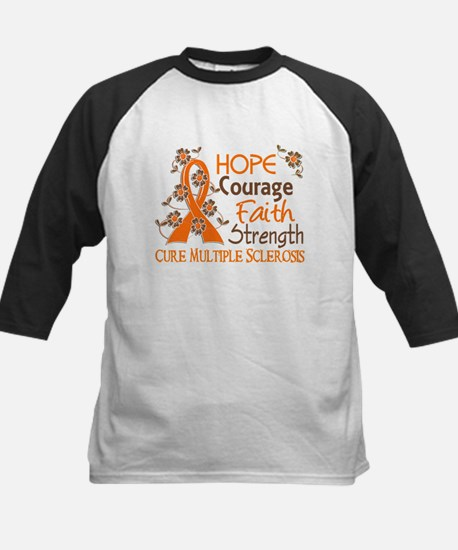 Hope Courage Faith 3 MS Kids Baseball Jersey