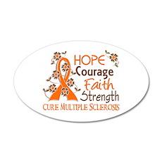 Hope Courage Faith 3 MS 22x14 Oval Wall Peel