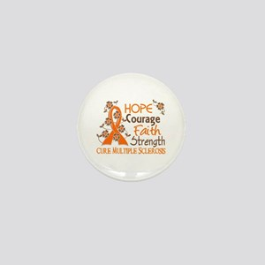 Hope Courage Faith 3 MS Mini Button