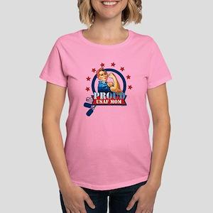 Rosie Proud USAF Mom Women's Dark T-Shirt