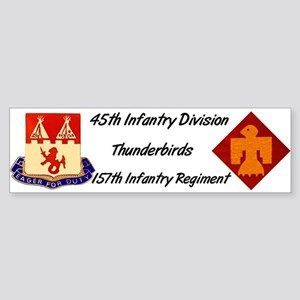 Bumper Sticker w/ 157th Crest