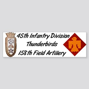 Bumper Sticker w/ 158th Crest