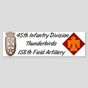 Bumper Sticker w/ 158th Crest
