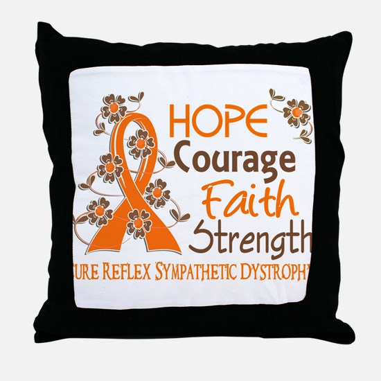 Hope Courage Faith 3 RSD Throw Pillow