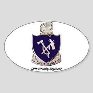 Oval Sticker w/ 179th Crest