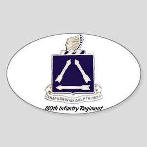 Oval Sticker w/ 180th Crest