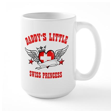 Daddy's Little Swiss Princess Large Mug