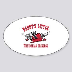Daddy's Little Trinidadian Princess Sticker (Oval)