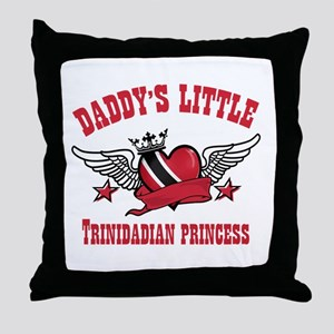 Daddy's Little Trinidadian Princess Throw Pillow