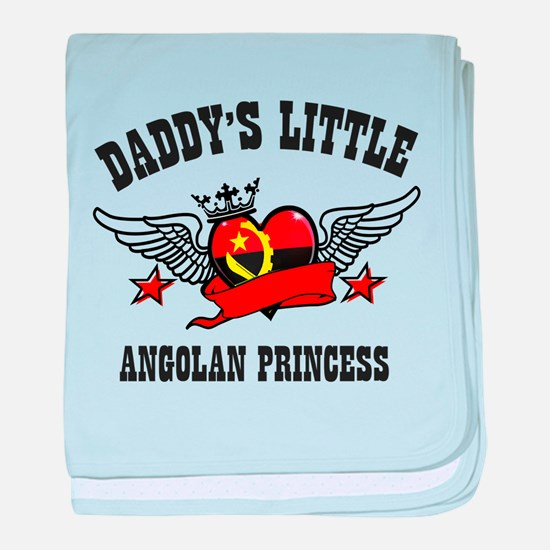 Daddy's Little Angolan Princess baby blanket