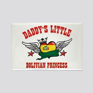 Daddy's little Bolivian Princess Rectangle Magnet
