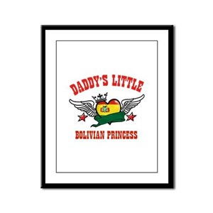 Daddy's little Bolivian Princess Framed Panel Prin