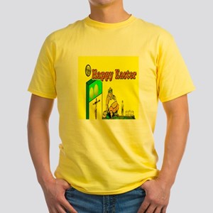 Happy Easter Dad Yellow T-Shirt