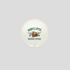 Daddy's Little Grenadian Princess Mini Button