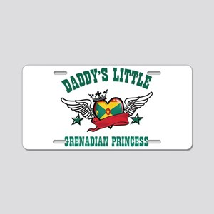 Daddy's Little Grenadian Princess Aluminum License